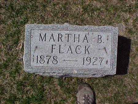FLACK, MARTHA B. - Clinton County, Iowa | MARTHA B. FLACK