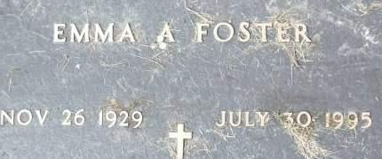 FOSTER, EMMA A. - Clinton County, Iowa | EMMA A. FOSTER