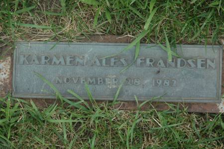 ALES FRANDSEN, KARMEN - Clinton County, Iowa | KARMEN ALES FRANDSEN