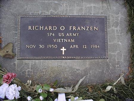 FRANZEN, RICHARD O. - Clinton County, Iowa | RICHARD O. FRANZEN