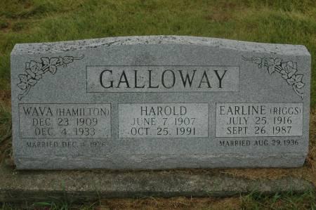 RIGGS GALLOWAY, EARLINE - Clinton County, Iowa | EARLINE RIGGS GALLOWAY