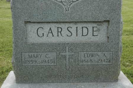 GARSIDE, EDWIN A. - Clinton County, Iowa   EDWIN A. GARSIDE
