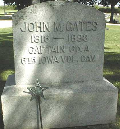GATES, CAPT. JOHN M. - Clinton County, Iowa | CAPT. JOHN M. GATES