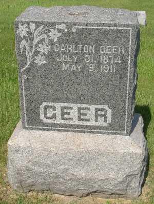GEER, CARLTON - Clinton County, Iowa   CARLTON GEER