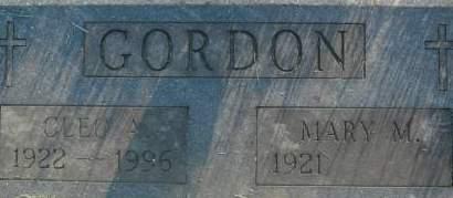GORDON, CLEO A. - Clinton County, Iowa | CLEO A. GORDON