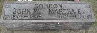 WESTGATE GORDON, MARTHA - Clinton County, Iowa | MARTHA WESTGATE GORDON