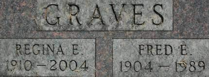GRAVES, REGINA E. - Clinton County, Iowa | REGINA E. GRAVES