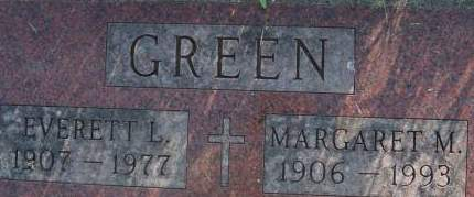 GREEN, MARGARET M. - Clinton County, Iowa | MARGARET M. GREEN