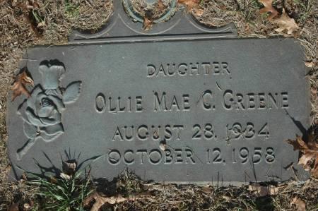GREENE, OLLIE MAE C. - Clinton County, Iowa | OLLIE MAE C. GREENE