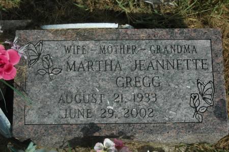 GREGG, MARTHA JEANNETTE - Clinton County, Iowa   MARTHA JEANNETTE GREGG
