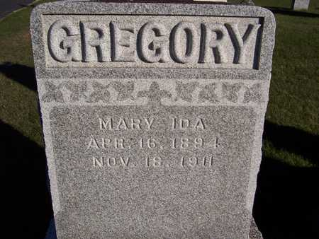 GREGORY, MARY IDA - Clinton County, Iowa | MARY IDA GREGORY