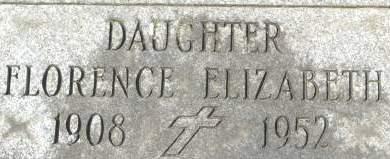 GRIBBON, FLORENCE ELIZABETH - Clinton County, Iowa   FLORENCE ELIZABETH GRIBBON