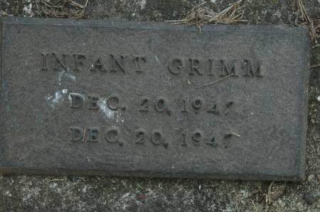 GRIMM, INFANT - Clinton County, Iowa | INFANT GRIMM
