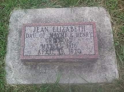 GRISWOLD, JEAN ELIZABETH - Clinton County, Iowa | JEAN ELIZABETH GRISWOLD