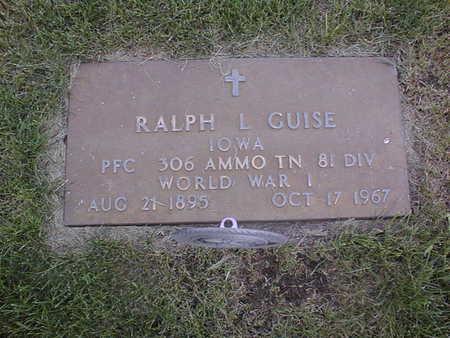 GUISE, RALPH L. - Clinton County, Iowa   RALPH L. GUISE