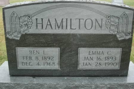 HAMILTON, EMMA C. - Clinton County, Iowa   EMMA C. HAMILTON