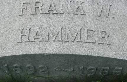 HAMMER, FRANK W. - Clinton County, Iowa | FRANK W. HAMMER