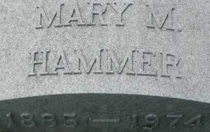 HAMMER, MARY M. - Clinton County, Iowa   MARY M. HAMMER