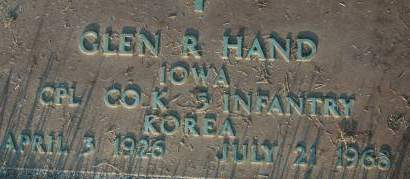 HAND, GLEN R. - Clinton County, Iowa | GLEN R. HAND