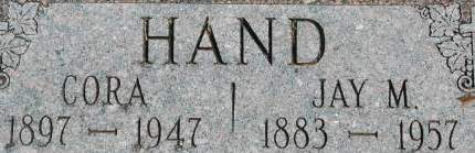 HAND, CORA - Clinton County, Iowa | CORA HAND
