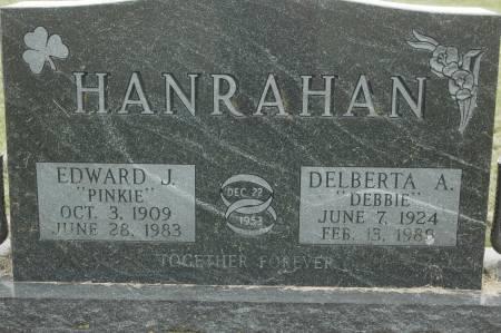 HANRAHAN, DELBERTA A. DEBBIE - Clinton County, Iowa   DELBERTA A. DEBBIE HANRAHAN