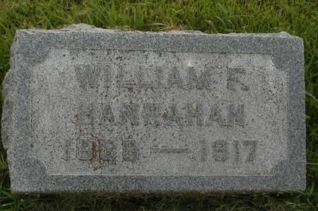 HANRAHAN, WILLIAM F. - Clinton County, Iowa | WILLIAM F. HANRAHAN