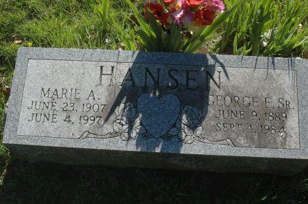 HANSEN, GEORGE E. SR. - Clinton County, Iowa   GEORGE E. SR. HANSEN