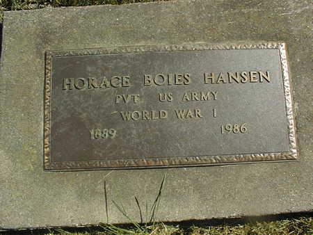 HANSEN, HORACE BOIES - Clinton County, Iowa | HORACE BOIES HANSEN