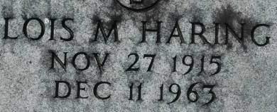 HARING, LOIS M. - Clinton County, Iowa   LOIS M. HARING