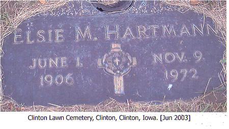 HARTMANN, ELSIE M. - Clinton County, Iowa | ELSIE M. HARTMANN