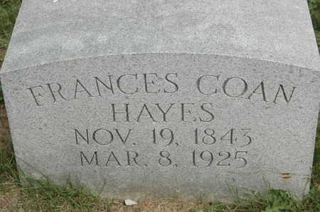 HAYES, FRANCES - Clinton County, Iowa | FRANCES HAYES