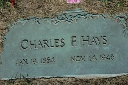 HAYS, CHARLES F. - Clinton County, Iowa | CHARLES F. HAYS