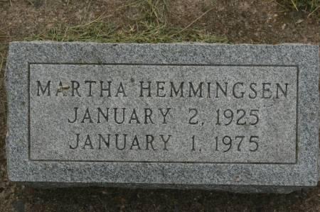 HEMMINGSEN, MARTHA - Clinton County, Iowa   MARTHA HEMMINGSEN