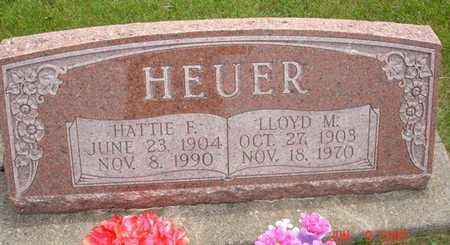 HEUER, HATTIE F. - Clinton County, Iowa | HATTIE F. HEUER