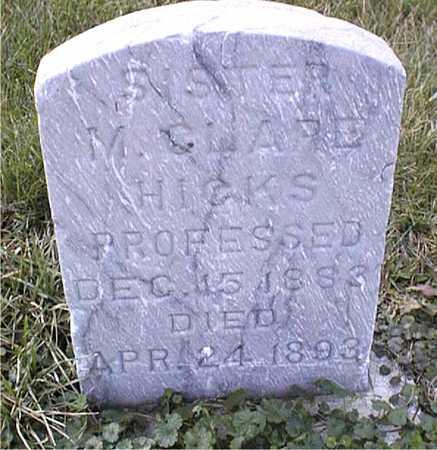 HICKS, SISTER M. CLARE - Clinton County, Iowa   SISTER M. CLARE HICKS