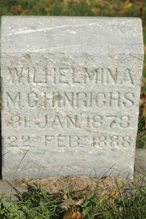 HINRICHS, WILHELMINA M.G. - Clinton County, Iowa | WILHELMINA M.G. HINRICHS