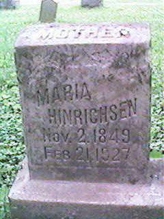 HINRICHSEN, MARIA - Clinton County, Iowa | MARIA HINRICHSEN