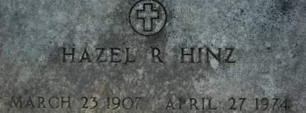 HINZ, HAZEL R. - Clinton County, Iowa   HAZEL R. HINZ