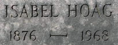 HOAG, ISABEL - Clinton County, Iowa   ISABEL HOAG