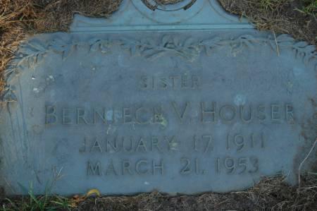 HOUSER, BERNIECE V. - Clinton County, Iowa   BERNIECE V. HOUSER