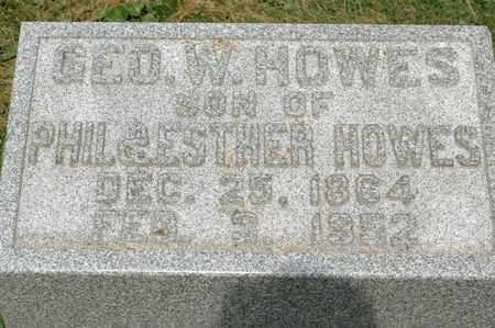 HOWES, GEORGE W. - Clinton County, Iowa   GEORGE W. HOWES