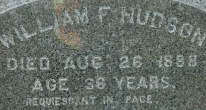 HUDSON, WILLIAM F. - Clinton County, Iowa | WILLIAM F. HUDSON