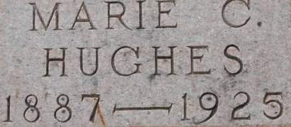 HUGHES, MARIE C. - Clinton County, Iowa   MARIE C. HUGHES