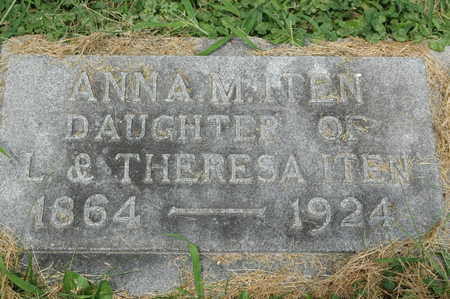 ITEN, ANNA M. - Clinton County, Iowa | ANNA M. ITEN