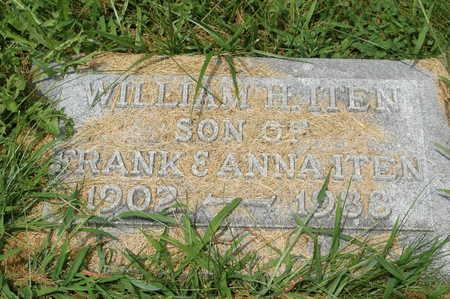 ITEN, WILLIAM H. - Clinton County, Iowa   WILLIAM H. ITEN