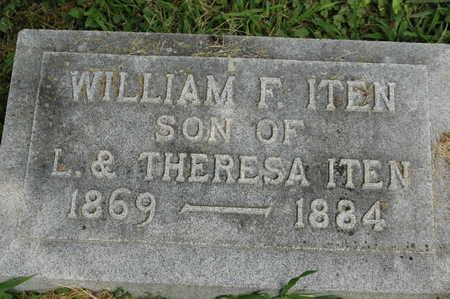 ITEN, WILLIAM F. - Clinton County, Iowa | WILLIAM F. ITEN