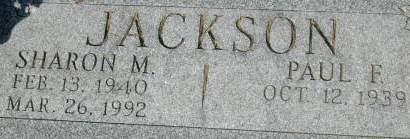 JACKSON, SHARON M. - Clinton County, Iowa | SHARON M. JACKSON