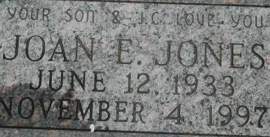JONES, JOAN E. - Clinton County, Iowa | JOAN E. JONES