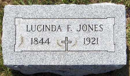 JONES, LUCINDA F. - Clinton County, Iowa   LUCINDA F. JONES