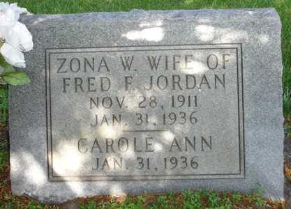 JORDAN, CAROLE ANN - Clinton County, Iowa   CAROLE ANN JORDAN